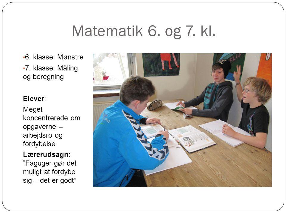 Matematik 6. og 7. kl. 6. klasse: Mønstre
