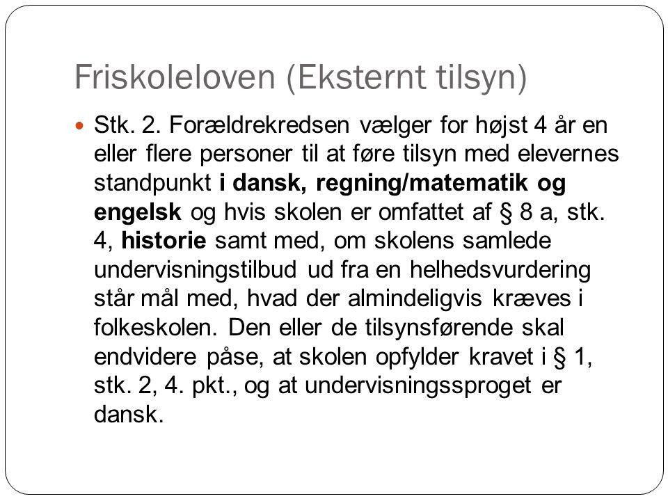 Friskoleloven (Eksternt tilsyn)