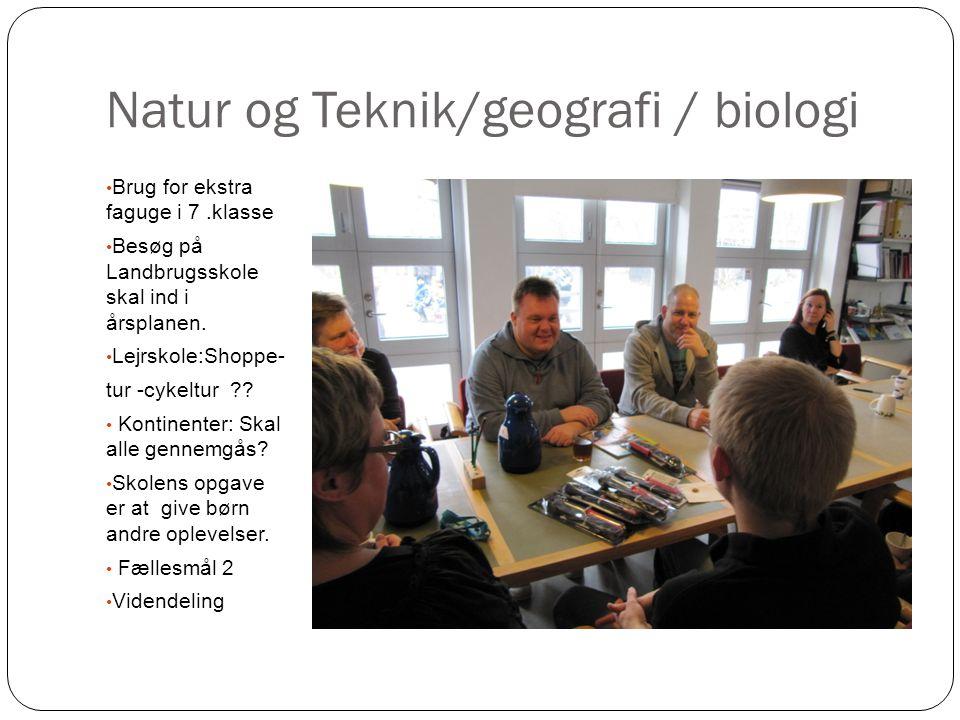 Natur og Teknik/geografi / biologi