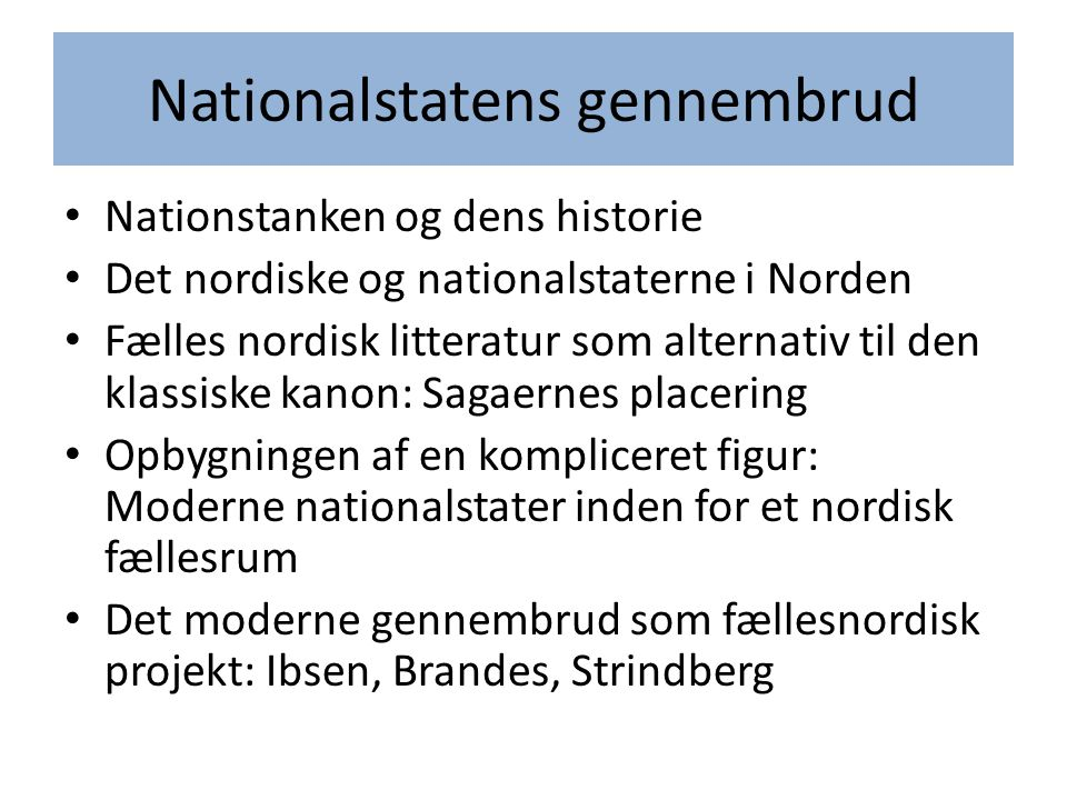 Nationalstatens gennembrud