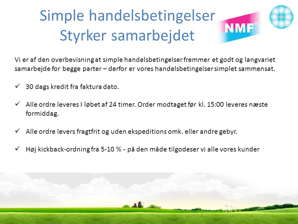 Simple handelsbetingelser