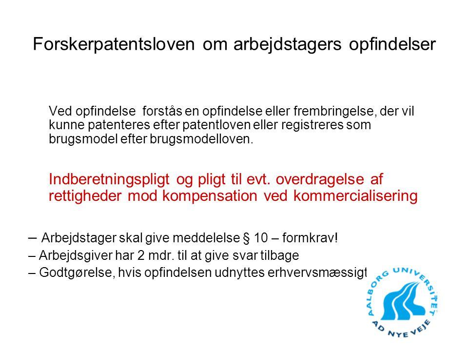 Forskerpatentsloven om arbejdstagers opfindelser