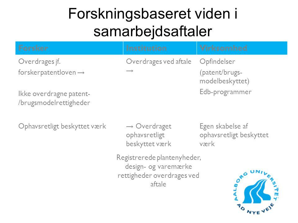 Forskningsbaseret viden i samarbejdsaftaler