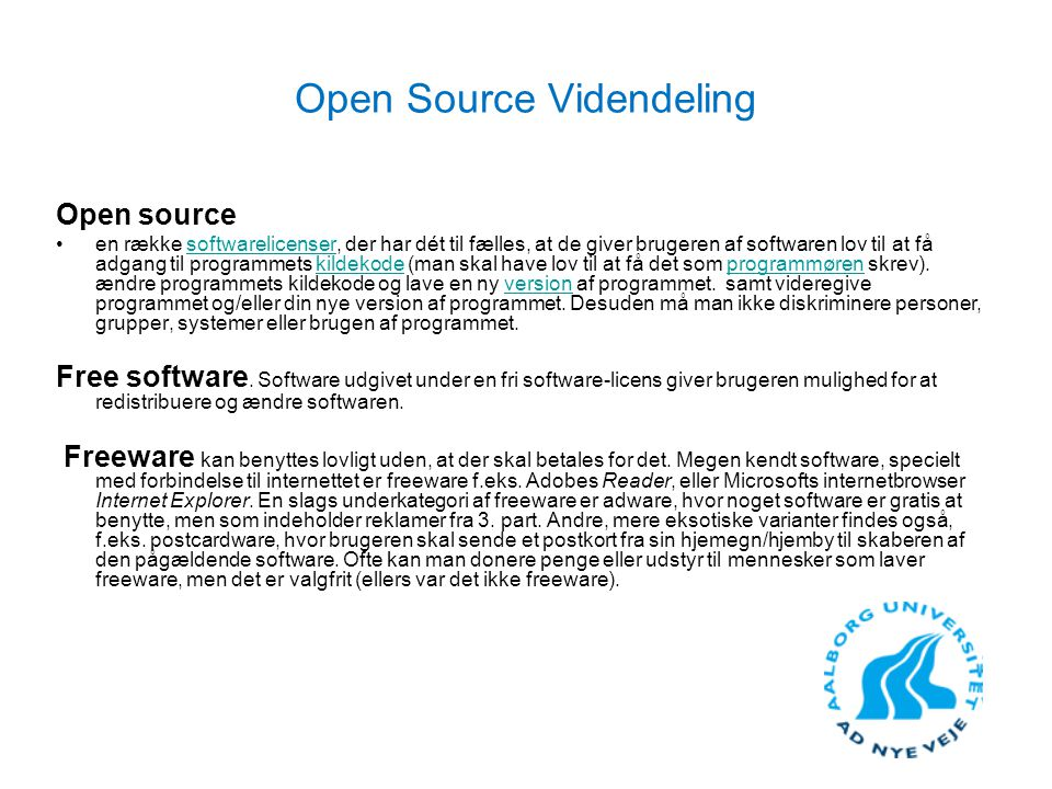 Open Source Videndeling