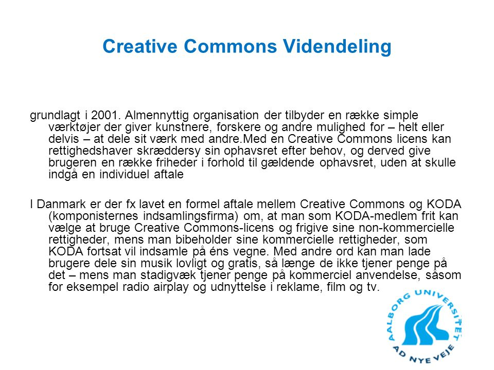 Creative Commons Videndeling