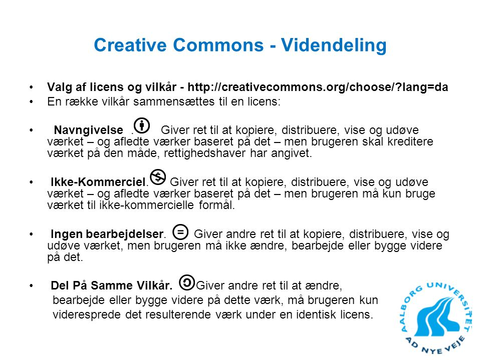 Creative Commons - Videndeling