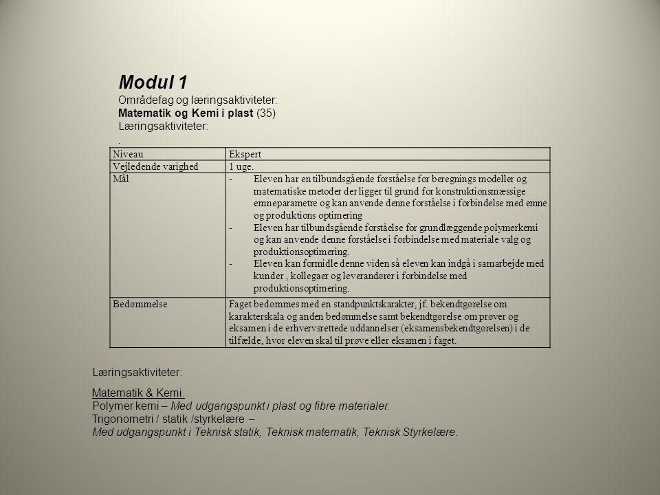 Modul 1 Områdefag og læringsaktiviteter: