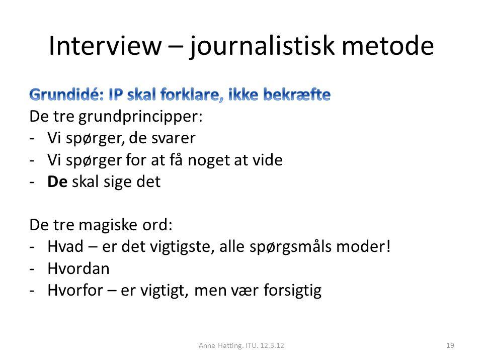 Interview – journalistisk metode