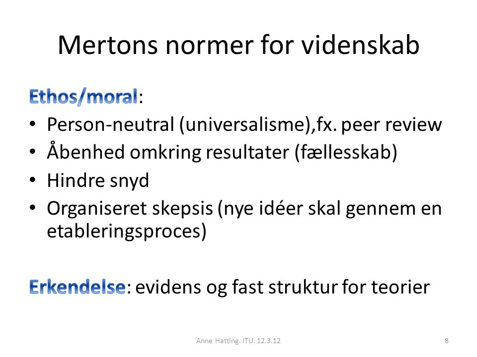 Mertons normer for videnskab