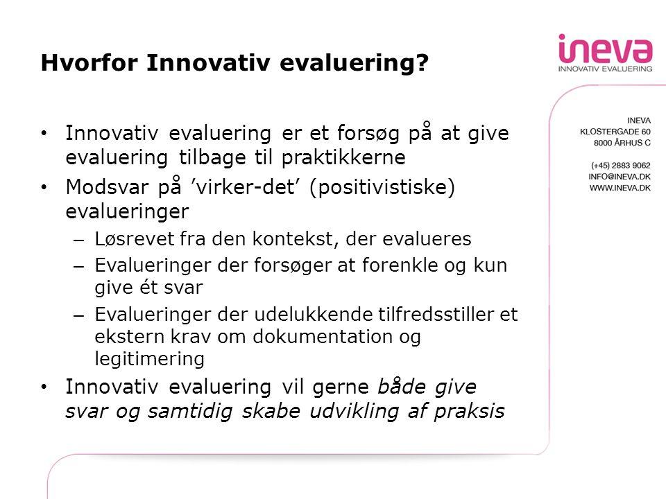 Hvorfor Innovativ evaluering