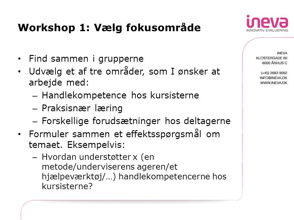 Workshop 1: Vælg fokusområde