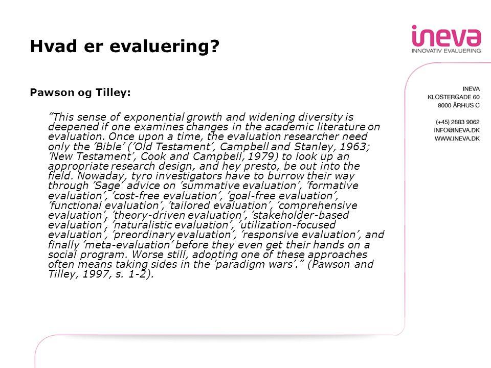Hvad er evaluering