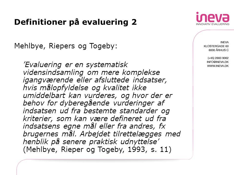 Definitioner på evaluering 2