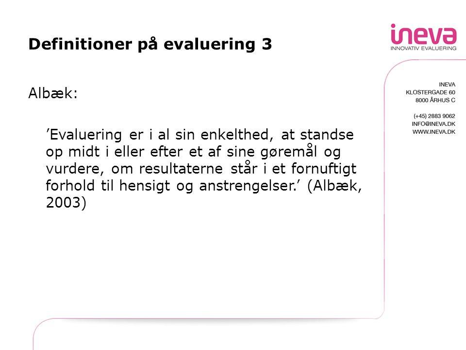 Definitioner på evaluering 3