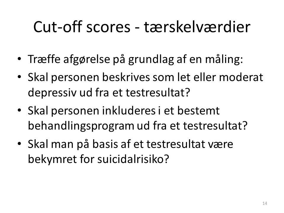 Cut-off scores - tærskelværdier