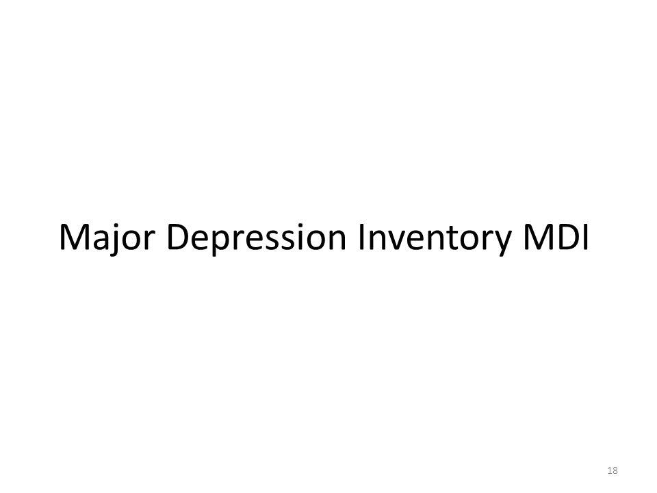 Major Depression Inventory MDI
