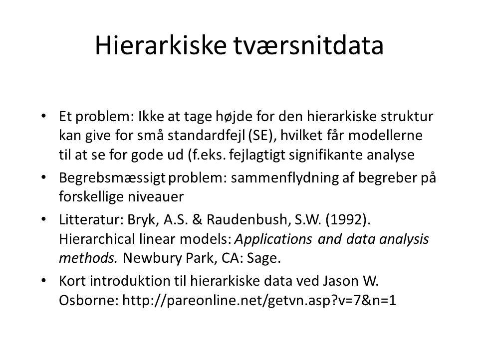 Hierarkiske tværsnitdata