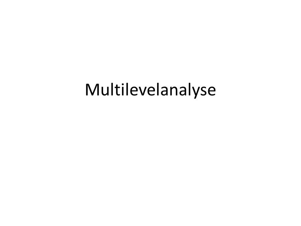 Multilevelanalyse
