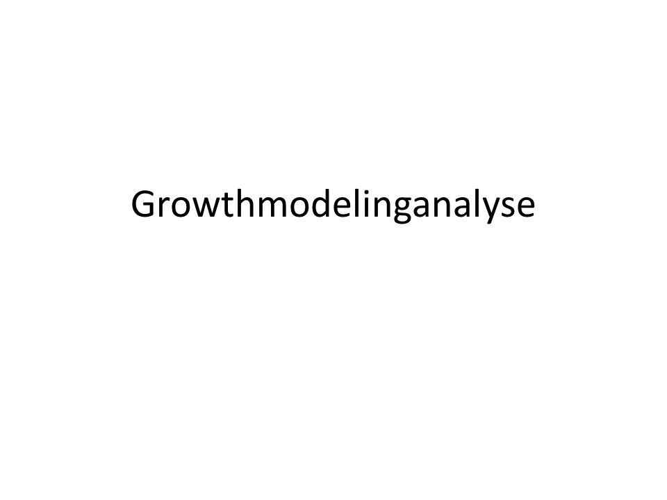 Growthmodelinganalyse