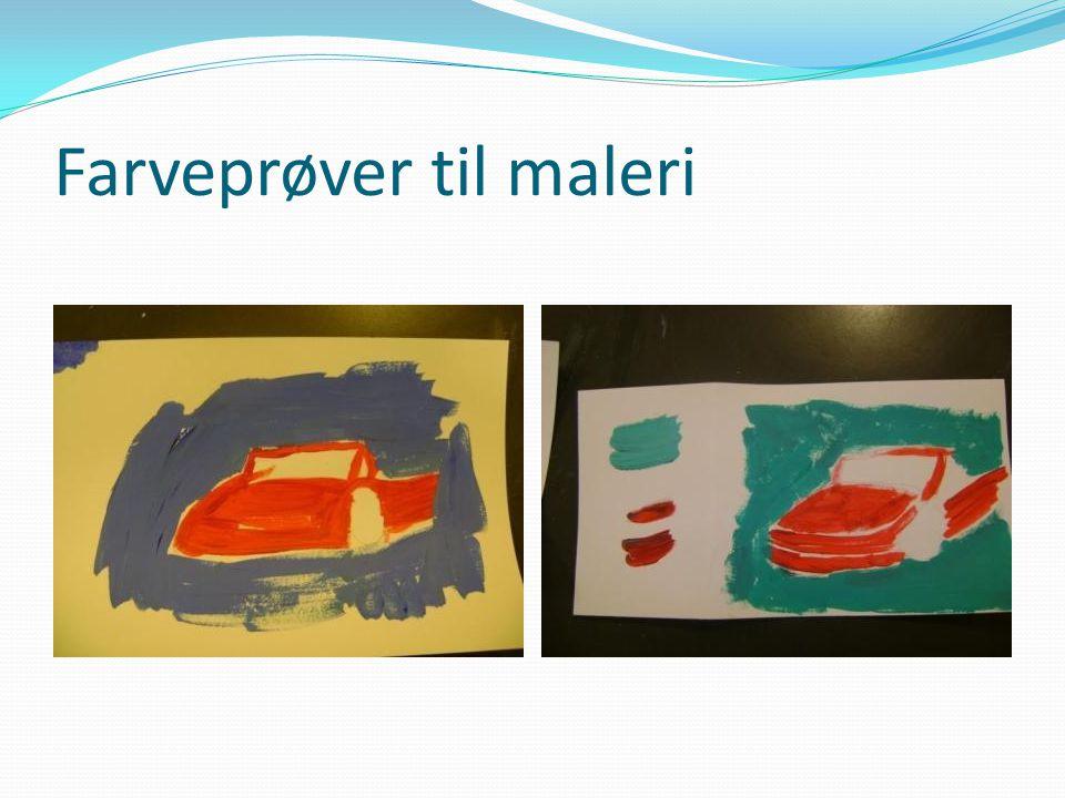 Farveprøver til maleri