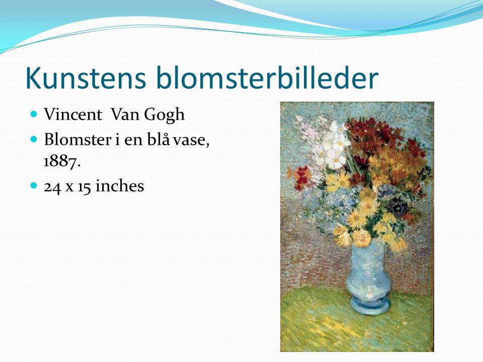 Kunstens blomsterbilleder