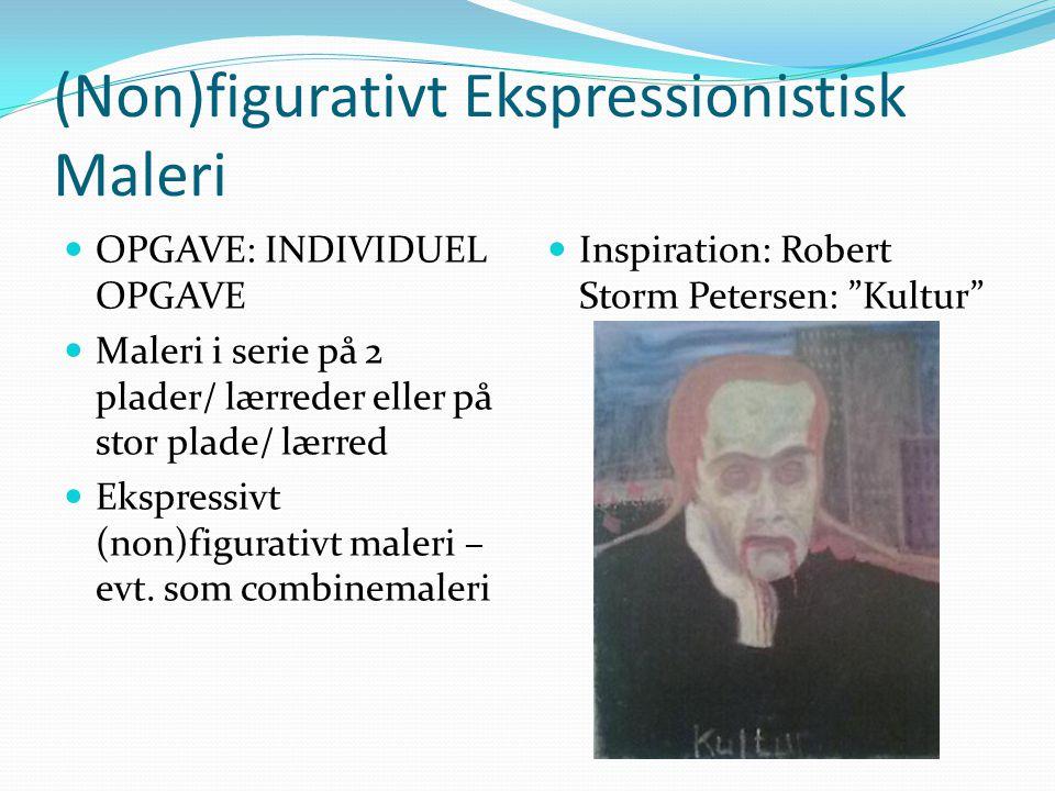 (Non)figurativt Ekspressionistisk Maleri