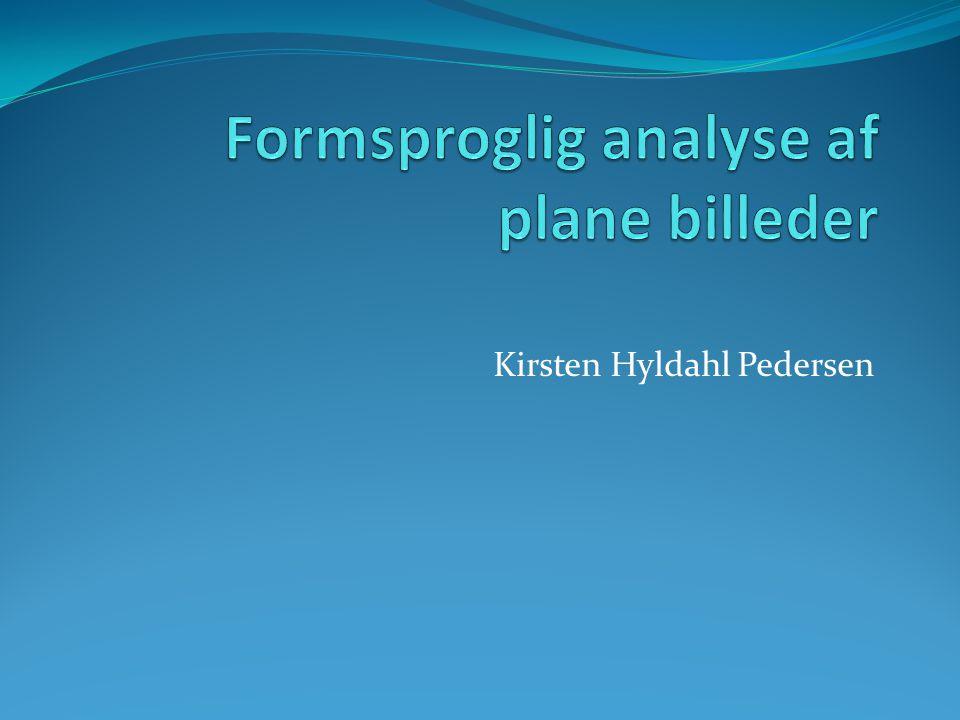 Formsproglig analyse af plane billeder