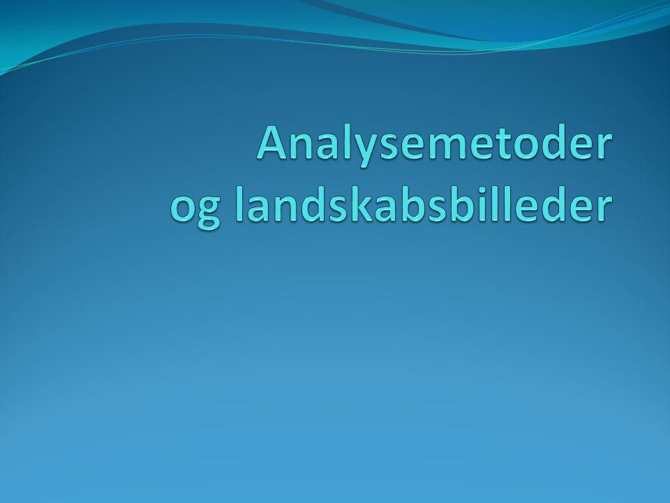 Analysemetoder og landskabsbilleder