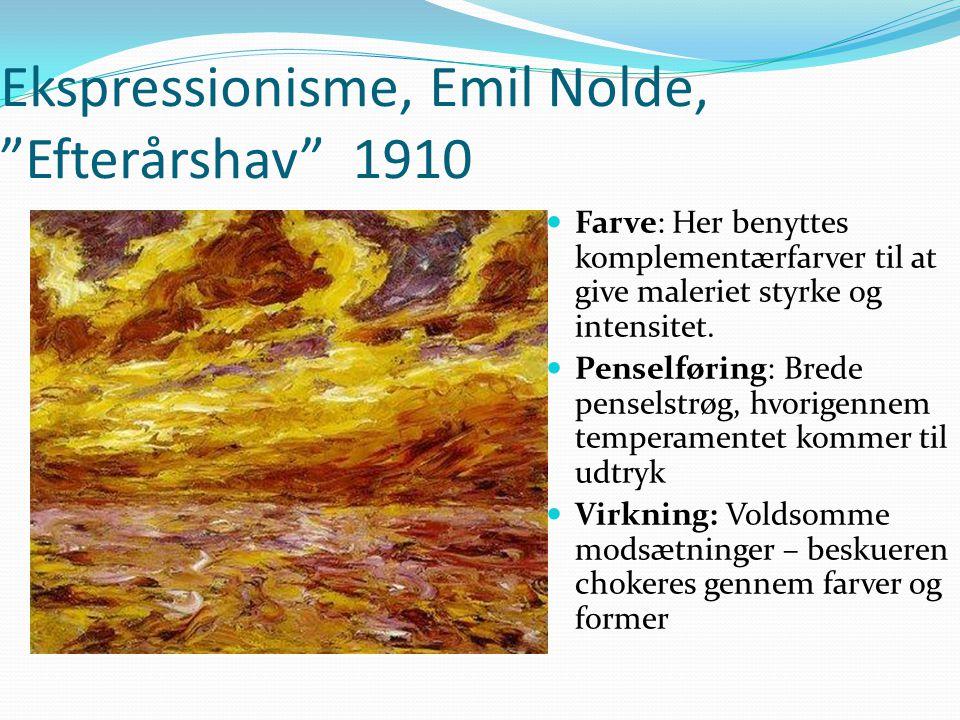 Ekspressionisme, Emil Nolde, Efterårshav 1910