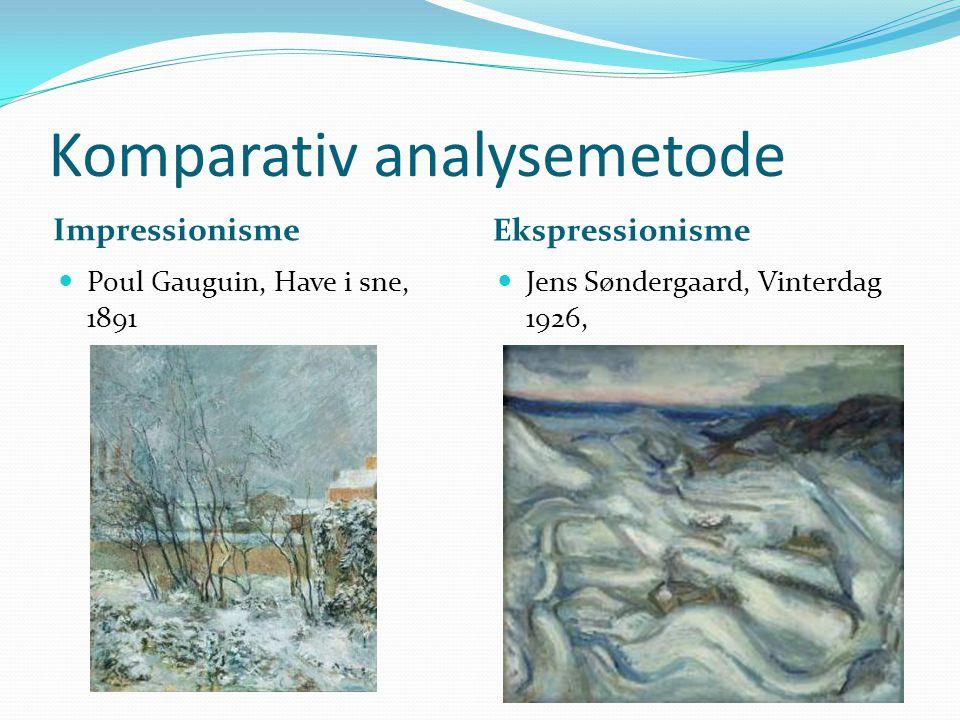 Komparativ analysemetode