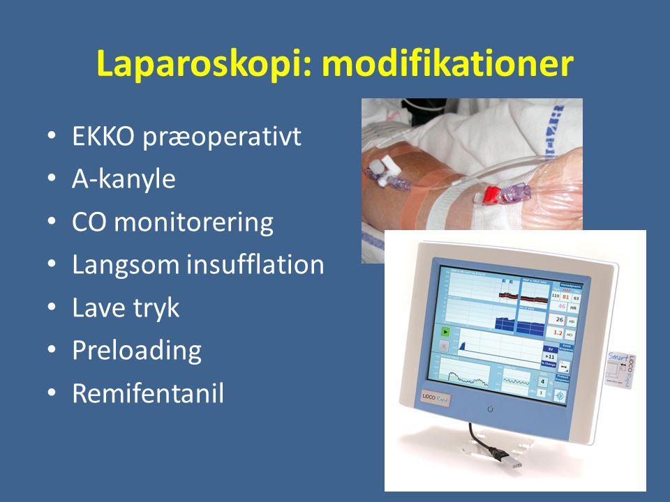 Laparoskopi: modifikationer