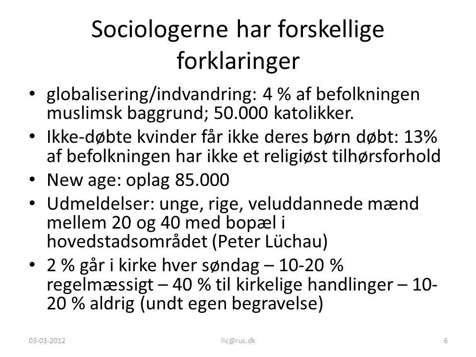 Sociologerne har forskellige forklaringer