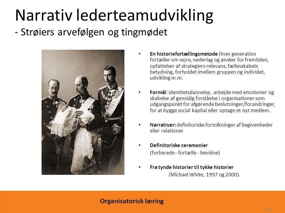 Narrativ lederteamudvikling - Strøiers arvefølgen og tingmødet