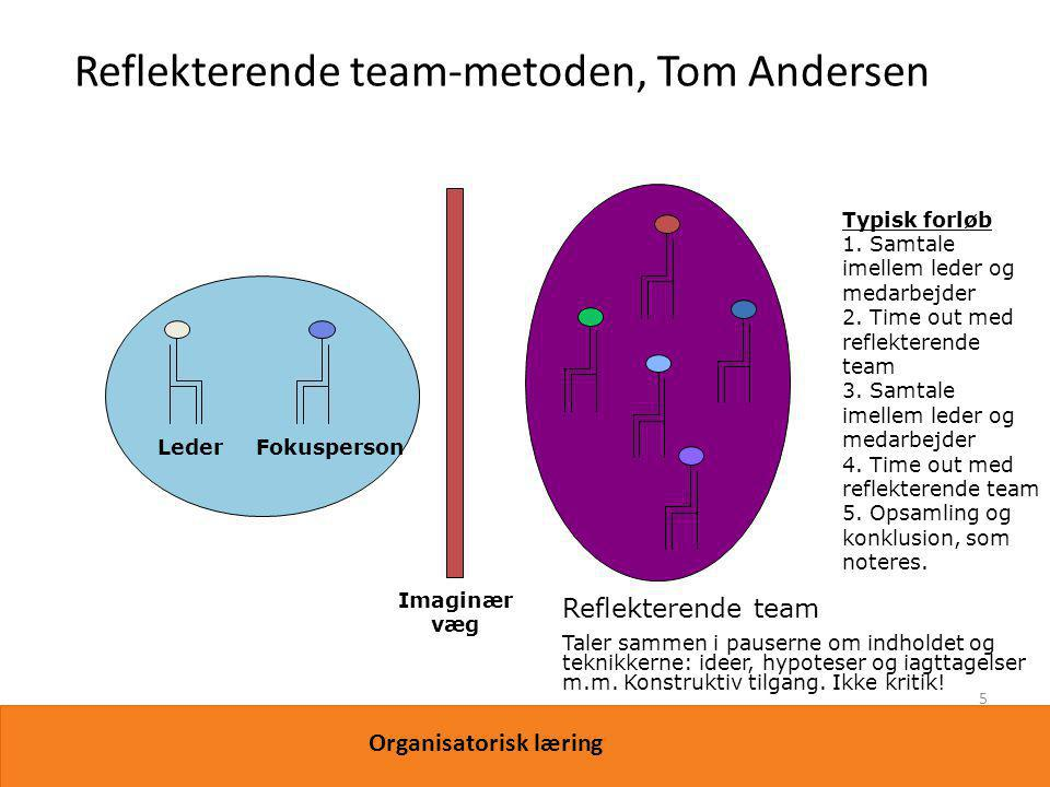 Reflekterende team-metoden, Tom Andersen