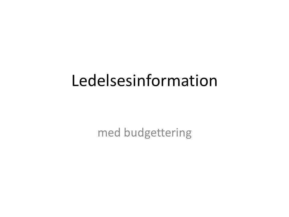 Ledelsesinformation med budgettering