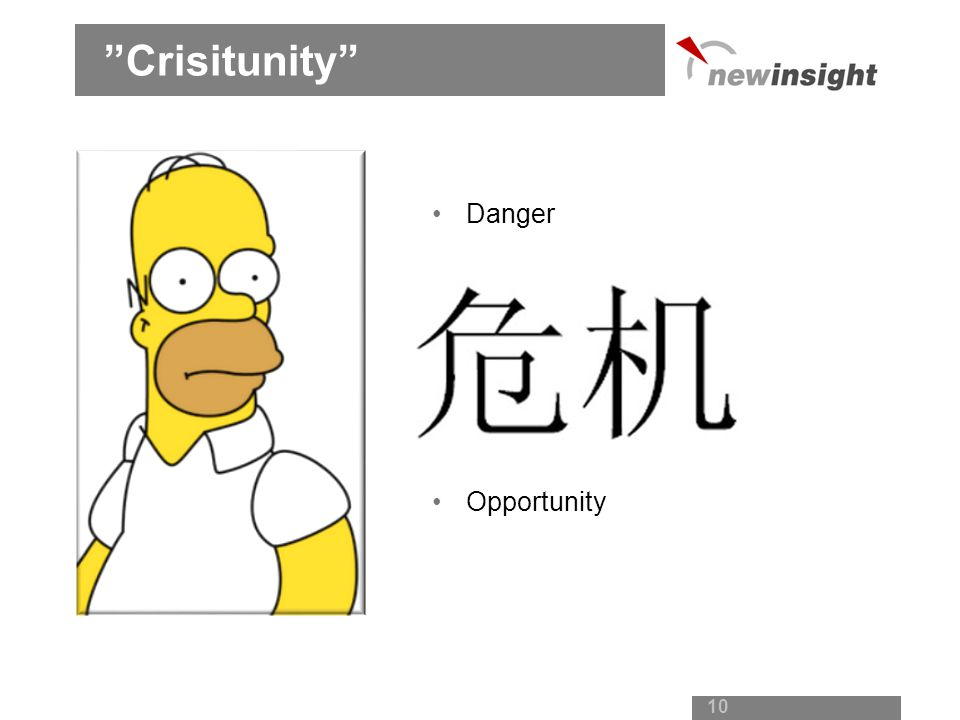Crisitunity Danger Opportunity