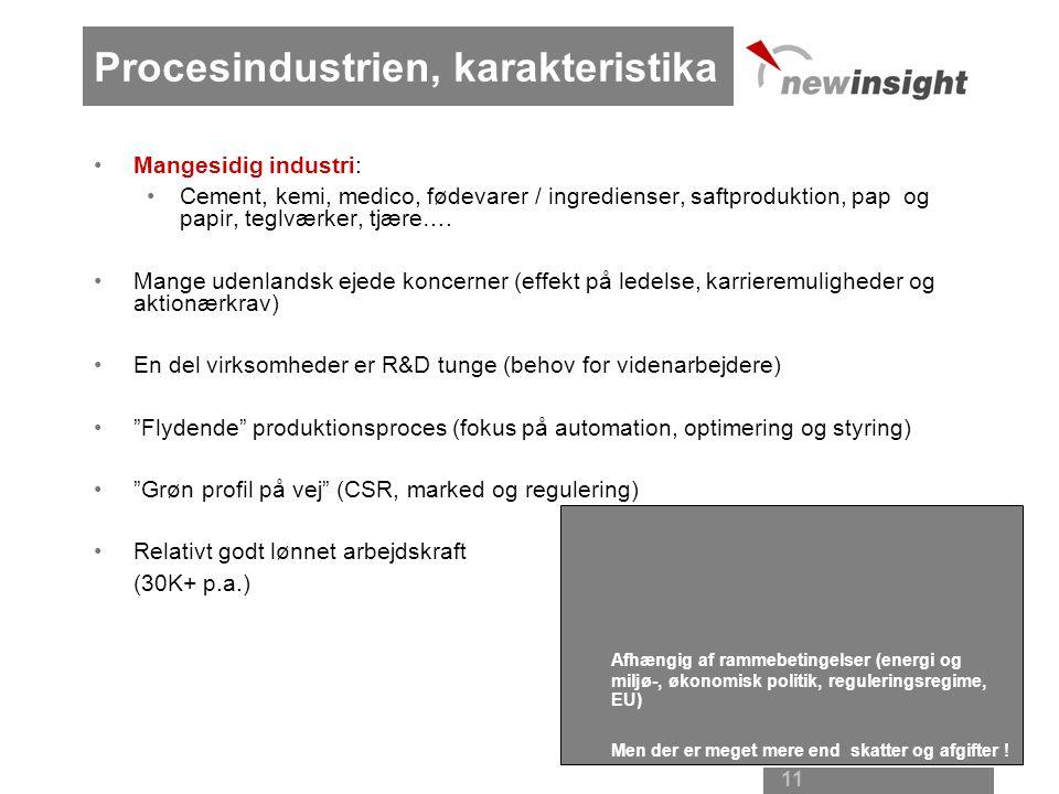 Procesindustrien, karakteristika