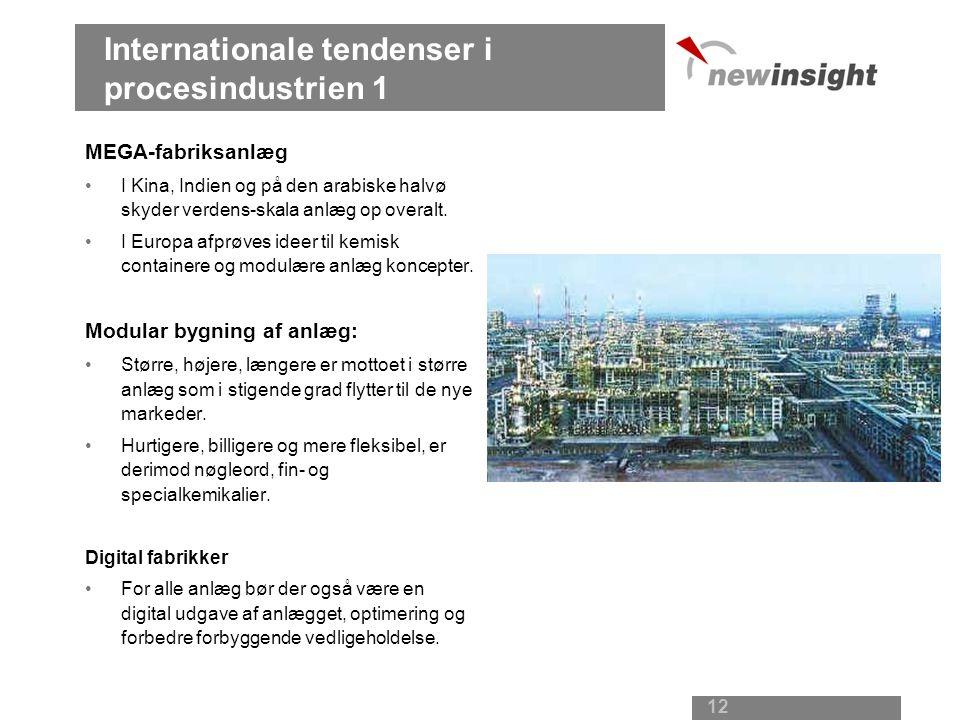 Internationale tendenser i procesindustrien 1