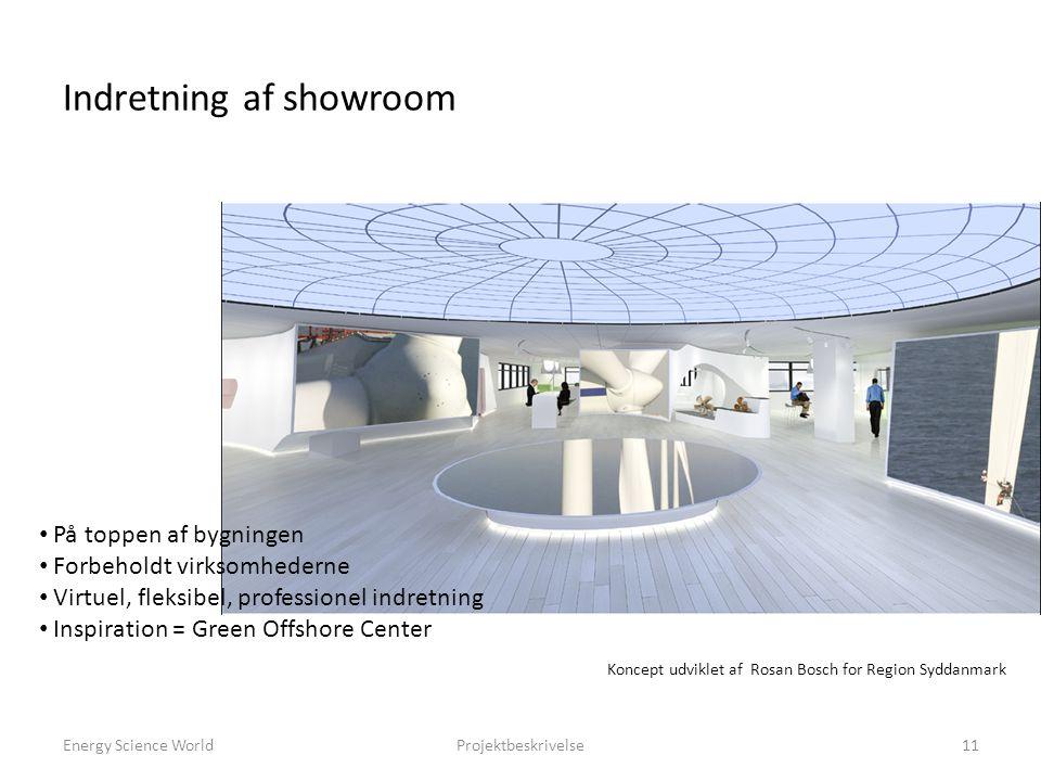 Indretning af showroom