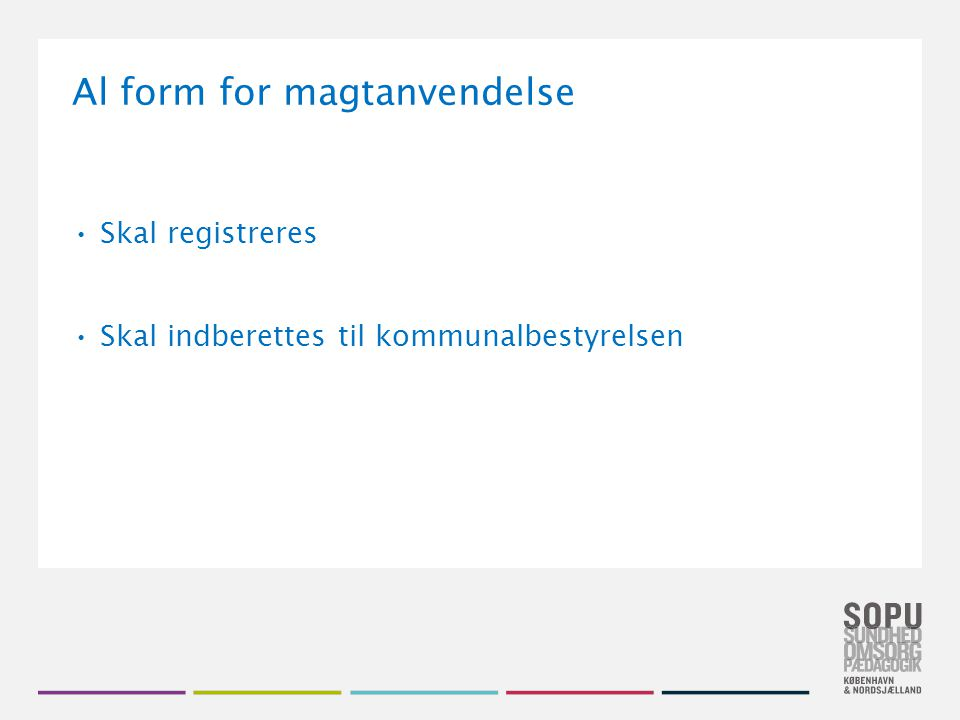 Al form for magtanvendelse