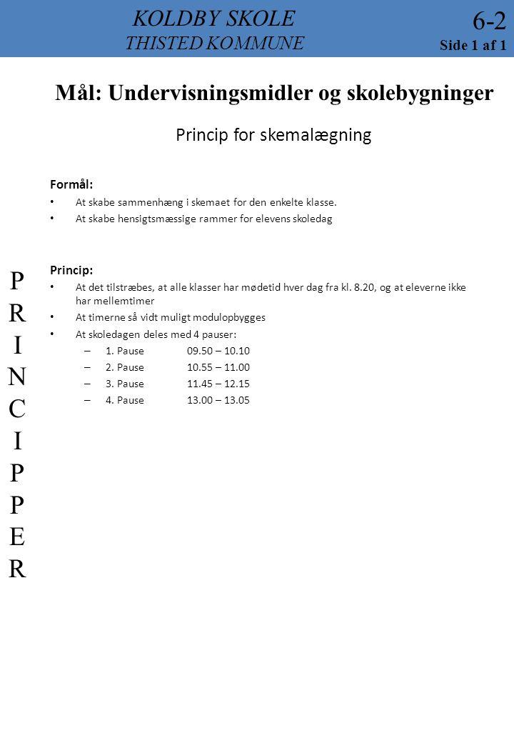 Princip for skemalægning