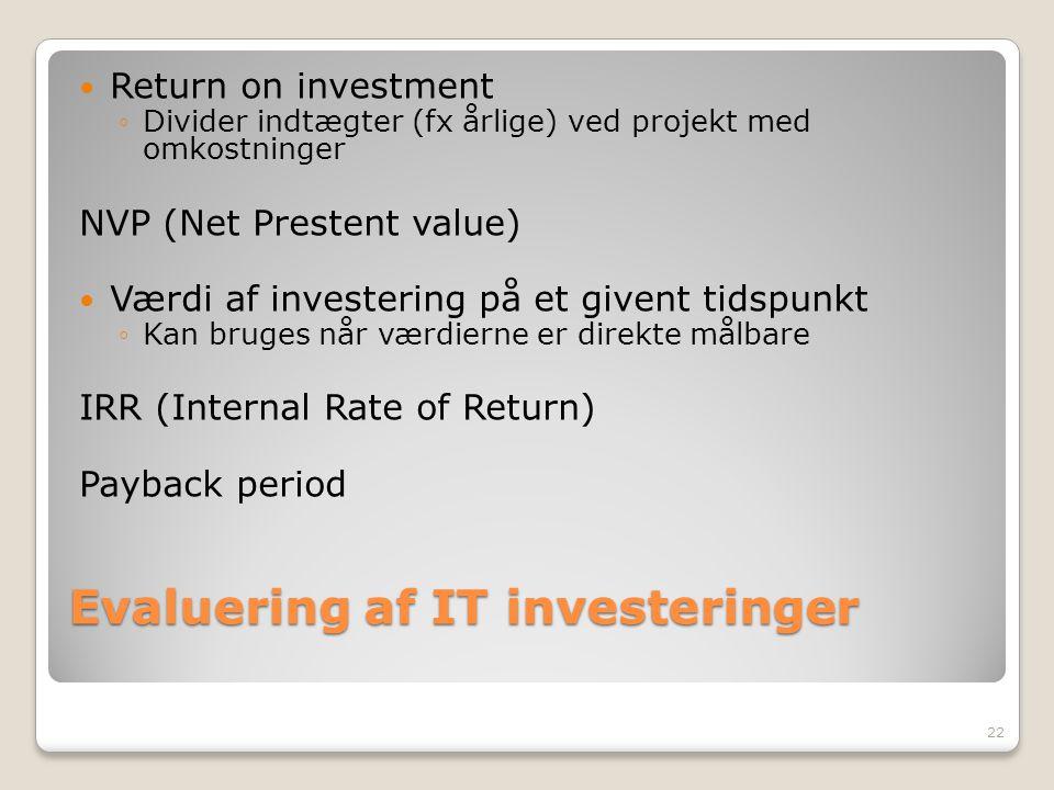 Evaluering af IT investeringer