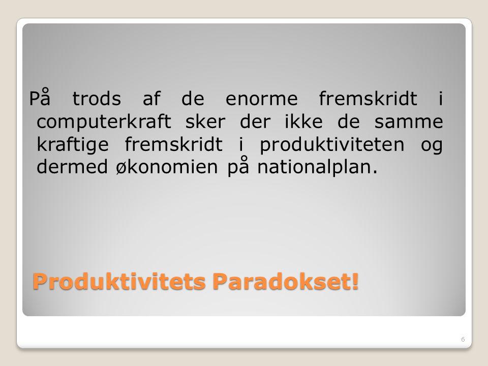 Produktivitets Paradokset!