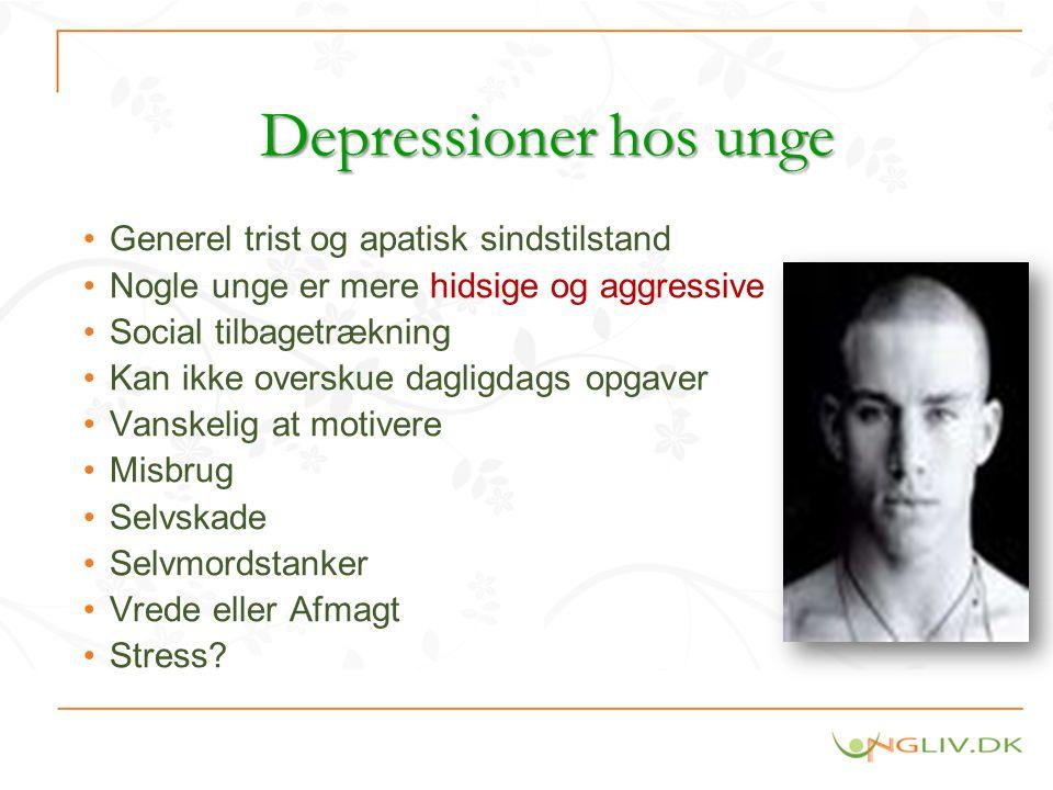 Depressioner hos unge Generel trist og apatisk sindstilstand