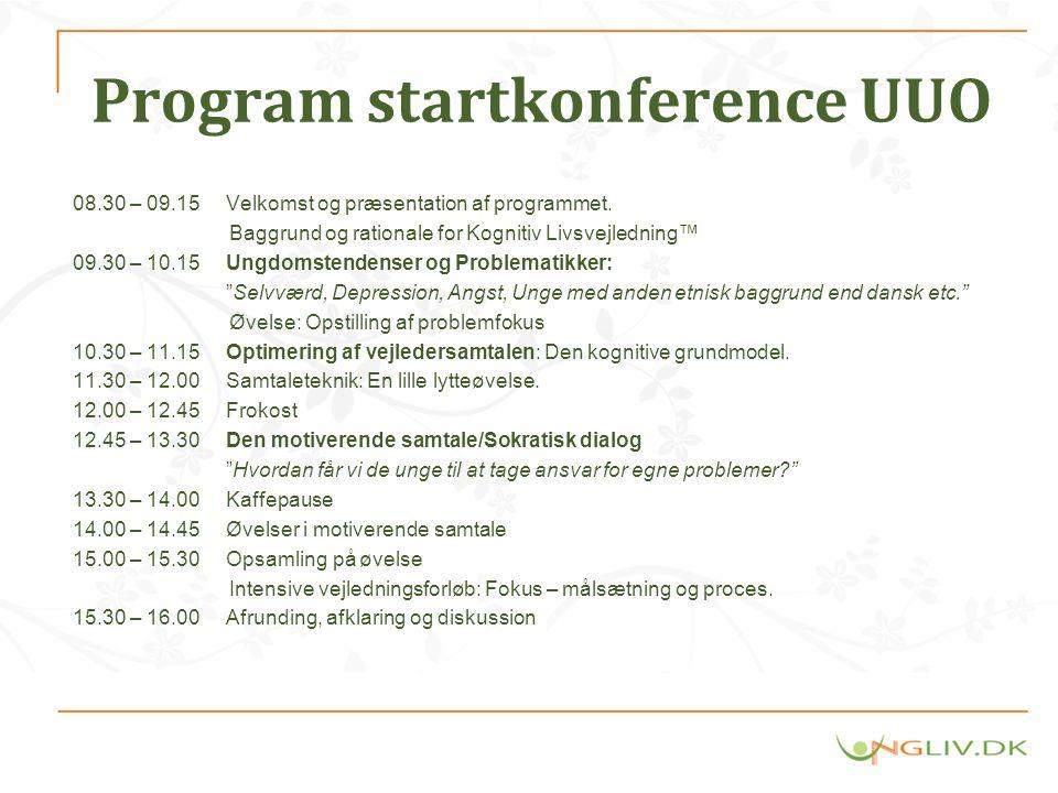 Program startkonference UUO