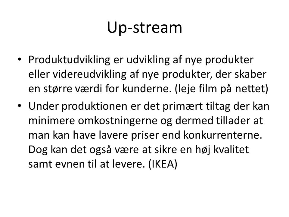 Up-stream