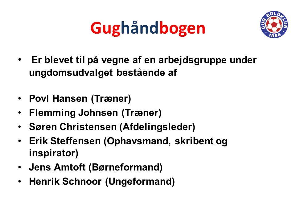 Gughåndbogen Er blevet til på vegne af en arbejdsgruppe under ungdomsudvalget bestående af. Povl Hansen (Træner)
