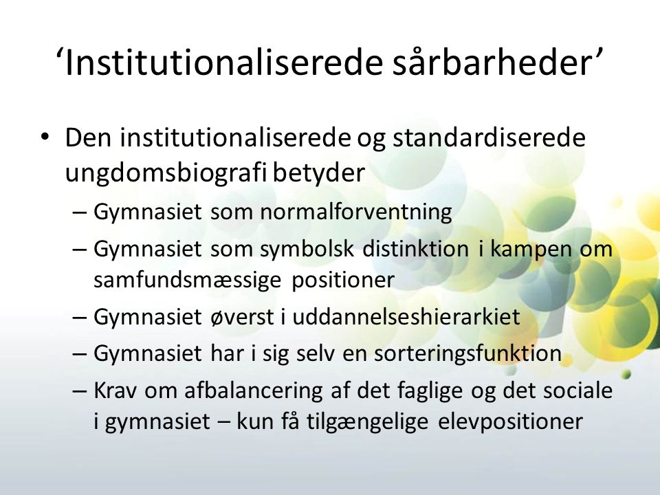 'Institutionaliserede sårbarheder'
