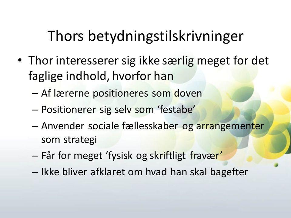 Thors betydningstilskrivninger