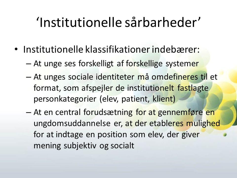 'Institutionelle sårbarheder'